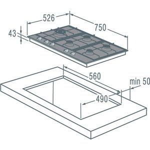 Газовая варочная панель Gorenje GGS 75 WAX от ТЕХПОРТ