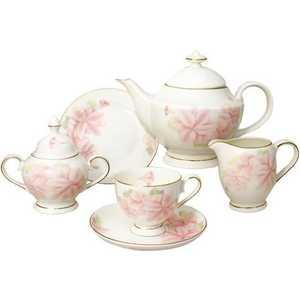 Чайный сервиз Emerald Розовые цветы из 21-го предмета E5-HV004011/21-AL
