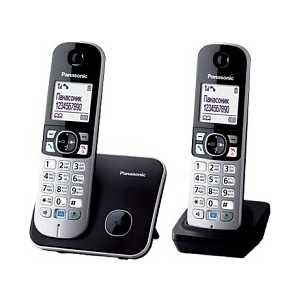 Радиотелефон Panasonic KX-TG6812RUB радиотелефон dect panasonic kx tg6812rub черный