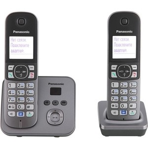 Радиотелефон Panasonic KX-TG6822RUM радиотелефон panasonic kx tg8061rub