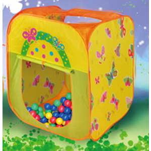Игровая палатка Ching-Ching Бабочка, 85х85х100см + 100 шаров (CBH-21) палатки домики babyone домик принцессы cbh 16 ching ching дом 100 шаров