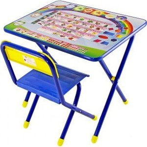 Набор мебели Дэми Алфавит стол и стул (синий)