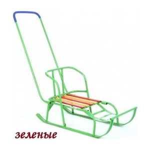 Санки Кулебаки с переставным толкателем (зеленый) ТНП-206.00.00.00