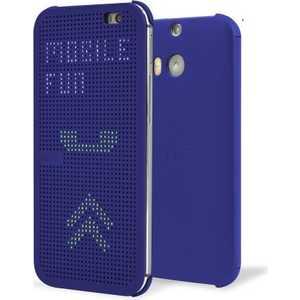 HTC Чехол для One E8 dot case blue (HC M110) (99H11638-00)