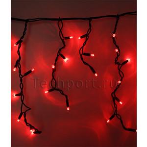 Light Светодиодная бахрома красная 3,1x0,5 чёрный каучуковый провод