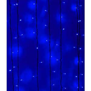 Light Светодиодный занавес синий 2x1 чёрный провод