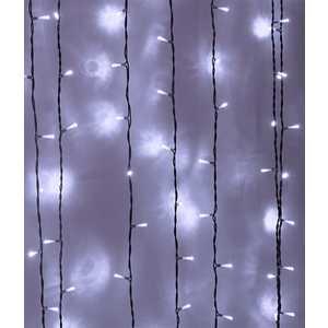 Light Светодиодный занавес белый 2x1 прозрачный провод.(мерц.)