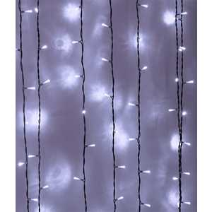 Light Светодиодный занавес белый 2x3 прозрачный провод.(мерц.)