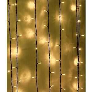 Light Светодиодный занавес тепл. белый 2x3 прозрачный провод.(мерц.)