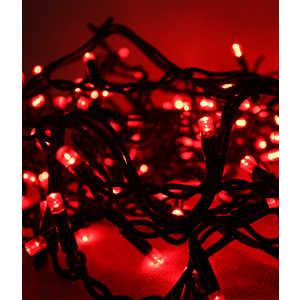 Гирлянда Light Светодиодная нить 10 м красная 100 led 24V чёрный провод гирлянда light светодиодная нить rgb 10 м 24v чёрный провод