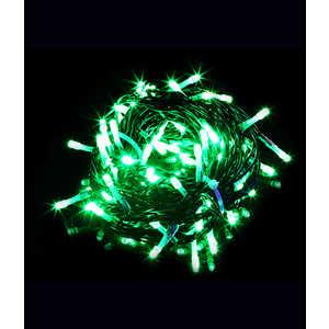 Гирлянда Light Светодиодная нить зеленая 10 м чёрный провод (мерцание 20 процентов)