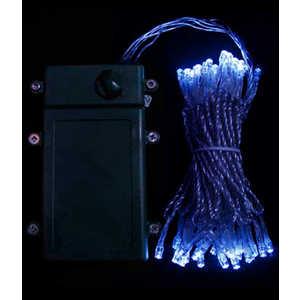 Гирлянда светодиодная Light Нить на батарейках 5 м синяя 4,5V прозрачный провод