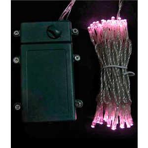 Гирлянда светодиодная Light Нить на батарейках 5 м светло розовая 4,5V прозрачный провод