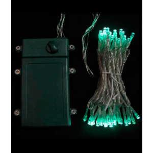 Гирлянда светодиодная Light Нить на батарейках 10 м аква 4,5V прозрачный провод