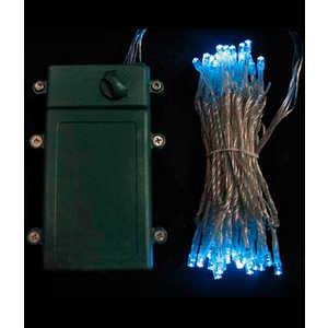 Гирлянда светодиодная Light Нить на батарейках 10 м небесно голубая 4,5V прозрачный провод