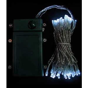 Гирлянда светодиодная Light Нить на батарейках 10 м белая 4,5V прозрачный провод