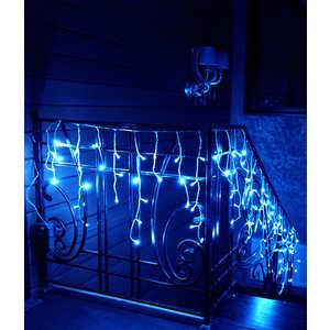Light Бахрома на батарейках 3м синяя 4,5 V прозрачный провод