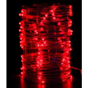 Гирлянда светодиодная нить Light ''Роса'' красная 10 м 12V.