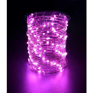 Гирлянда светодиодная нить Light ''Роса'' розовая 10 м 12V.