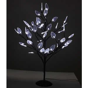 Светодиодная композиция Light ''Цветок'' с листьями белый 60 см,48 led