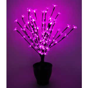 Светодиодная композиция Light ''Цветок в горшке'' цветы сакуры розовый 60 см, 94 led чёрный провод