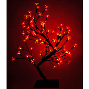 Светодиодная композиция Light ''Бонсай'' цветки сакуры красный 45 см, 64 led