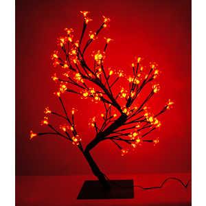 Светодиодная композиция Light ''Бонсай'' цветки сакуры красный 60 см, 96 led