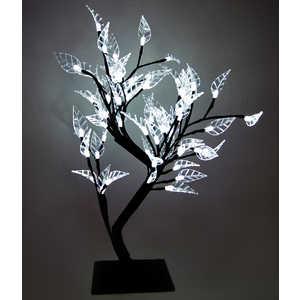 Светодиодная композиция Light ''Бонсай'' листья белый 45 см, 64 led
