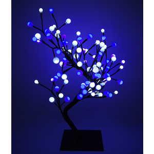 Светодиодная композиция Light ''Бонсай'' шарики белый-синий 60 см, 96 led.
