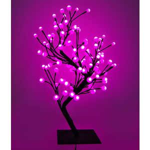 Светодиодная композиция Light ''Бонсай'' шарики розовый 60 см, 96 led.