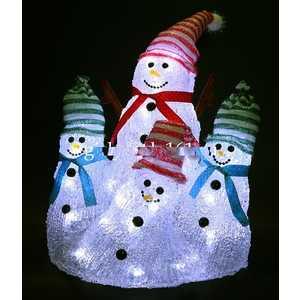 Светодиодная фигура Light ''Снеговики'' 25,21 и 25 см, 42 led, 220/24V