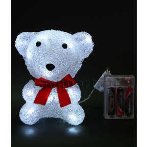 Светодиодная фигура на батарейках Light ''Медвежонок'' B 16 см, 16 led, 3АА