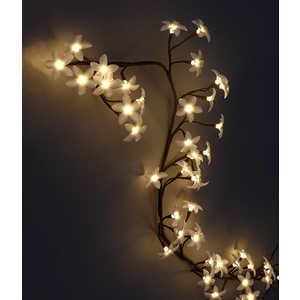 Светодиодная композиция Light ''Ветка Плюмерии'' матовые цветы 1,5 м теплый белый