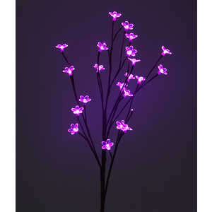 Light Ветка Сакуры на батарейках розовый 90 см, прозрачный провод