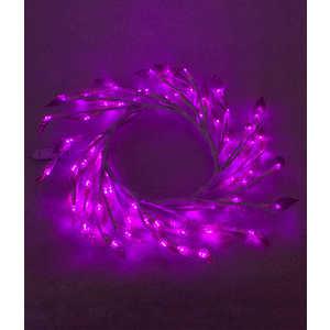 Светодиодная композиция Light ''Венок с прозрачными листьями'' фиолетовый 50 см