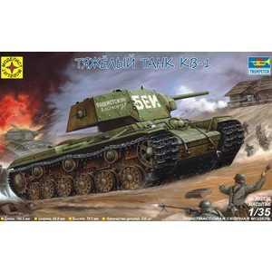 Моделист Модель тяжелый танк КВ-1, 1:35 303536/303527 вертолёт моделист ан 64а