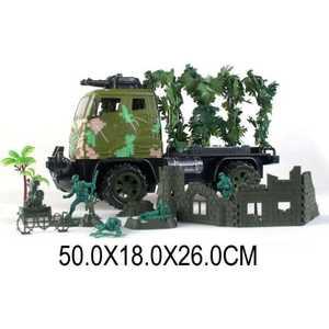 Грузовик Shantou Gepai военный 1:12 на радиуправлении солдатики, аксессуары JN128-12