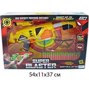 Бластер Shantou Gepai механический, 20 мягких пуль, очки, лаз прицел SB276