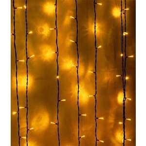Light Светодиодный занавес желтый 1x6 чёрный PVC провод