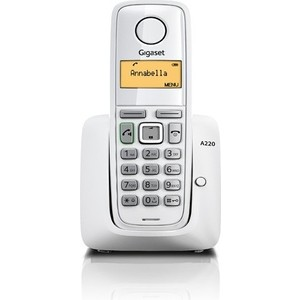Радиотелефон Gigaset A220 white дополнительная трубка gigaset a220h для a220