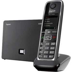 Фото Радиотелефон Gigaset C530A IP черный радиотелефон dect gigaset c530a duo черный