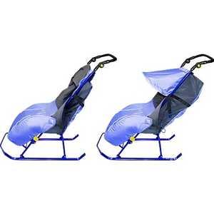 Санки-коляска Ника ''Тимка 2 Комфорт'' на колесах (лавандовый) Т2К