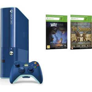 Игровая приставка Microsoft Xbox 360E 500Gb, blue + Toy soldiers + Max: the Curse of Brotherhood