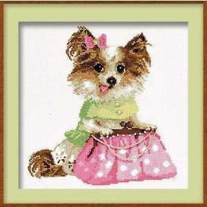 Набор для вышивания Сотвори Сама Набор для вышивания Чихуахуа 1067 набор для вышивания сотвори сама котёнок гав 462