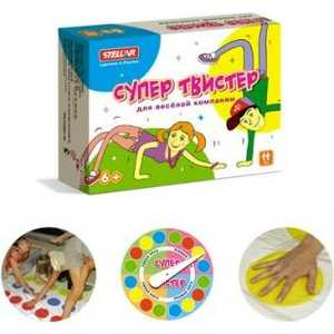 Стеллар Настольная игра Супер Твистер 1137 интерактивная игра hasbro твистер
