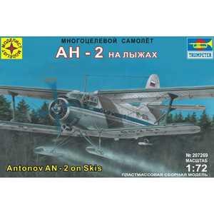 Моделист Модель самолет многоцелевой самолет Ан-2 на лыжах, 1:72 207269