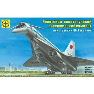 Моделист Модель Советский сверхзвуковой пассажирский самолёт, 1:144 214478 вертолёт моделист ан 64а