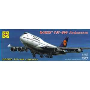 Моделист Модель Боинг 747-400 Люфтганза, 1:300 230031 special offer wings dragon 56248 thailand airlines hs tgp 1 400 b747 400 commercial jetliners plane model hobby
