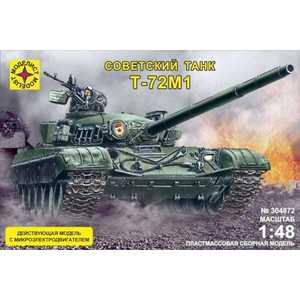 Моделист Модель танк Т-72М1 с микроэлектродвигателем, 1:48 304872 самолёт моделист палубный супер этандар 1 72 207215