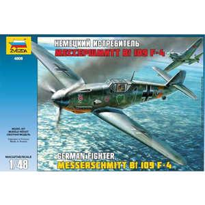 Звезда Модель Немецкий истребитель Мессершмитт Bf-109F4 4806